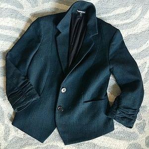 Express Blazer Tweed Turquoise 6